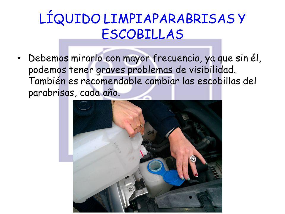LÍQUIDO LIMPIAPARABRISAS Y ESCOBILLAS