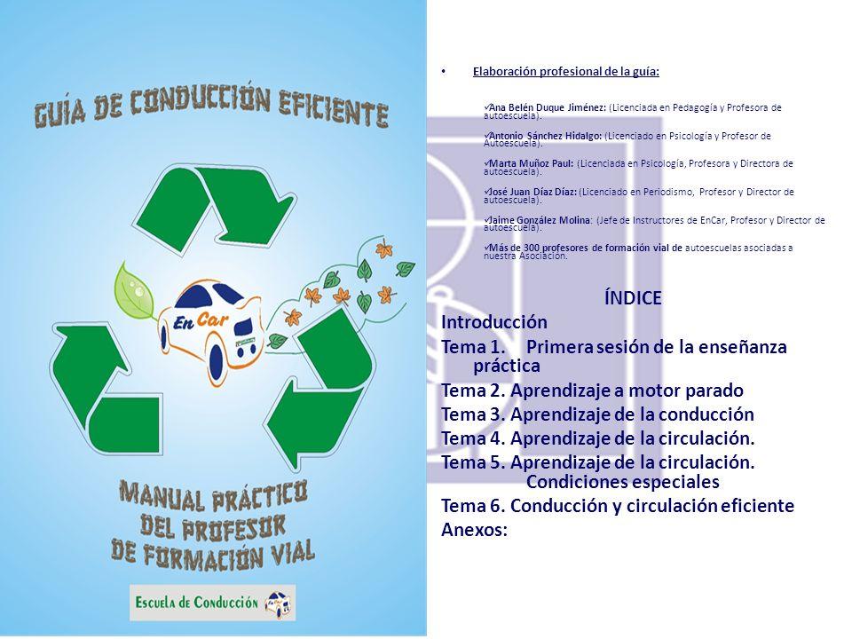 Tema 1. Primera sesión de la enseñanza práctica