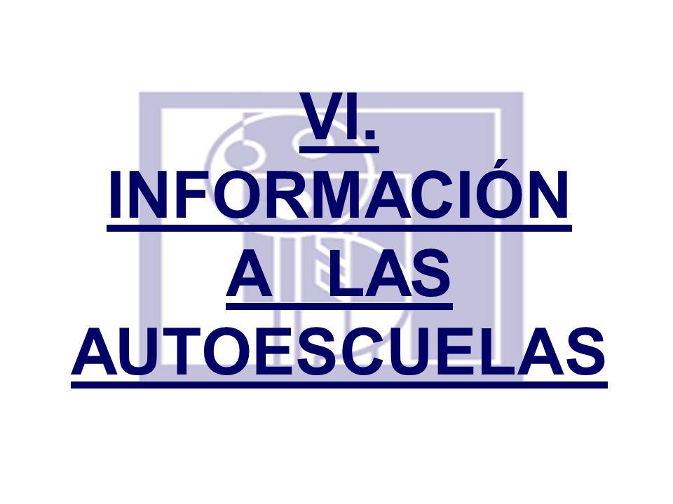 INFORMACIÓN A LAS AUTOESCUELAS