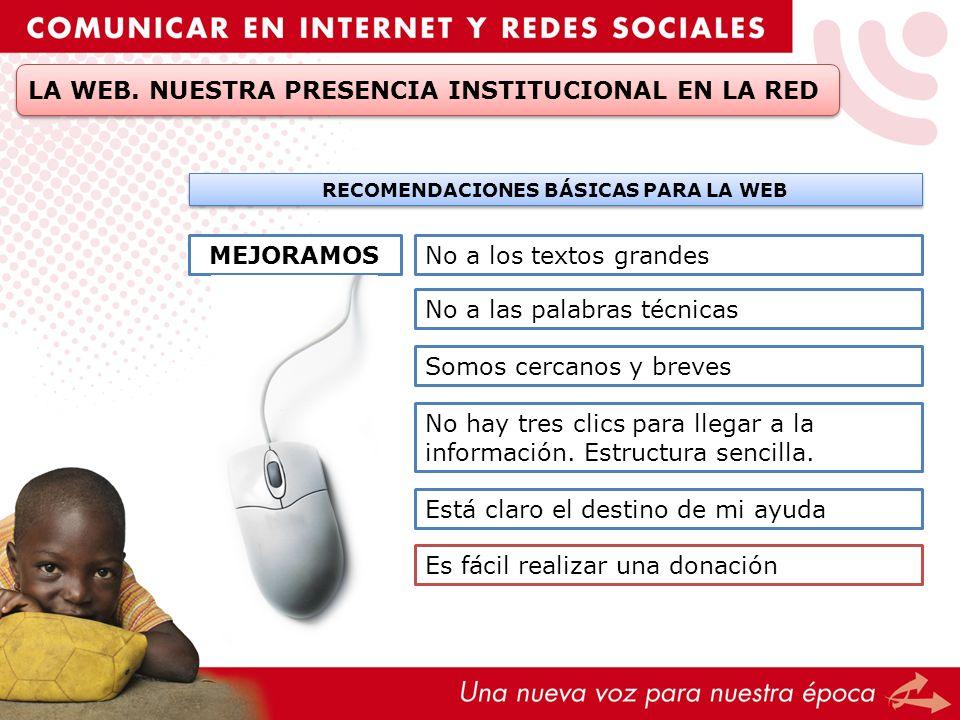 RECOMENDACIONES BÁSICAS PARA LA WEB