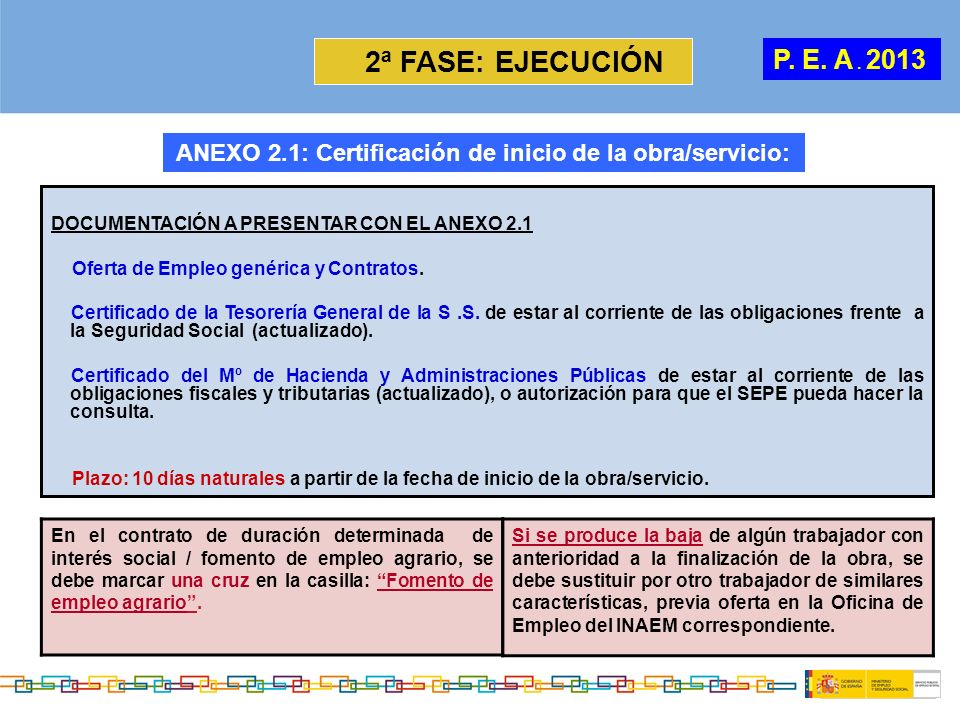ANEXO 2.1: Certificación de inicio de la obra/servicio: