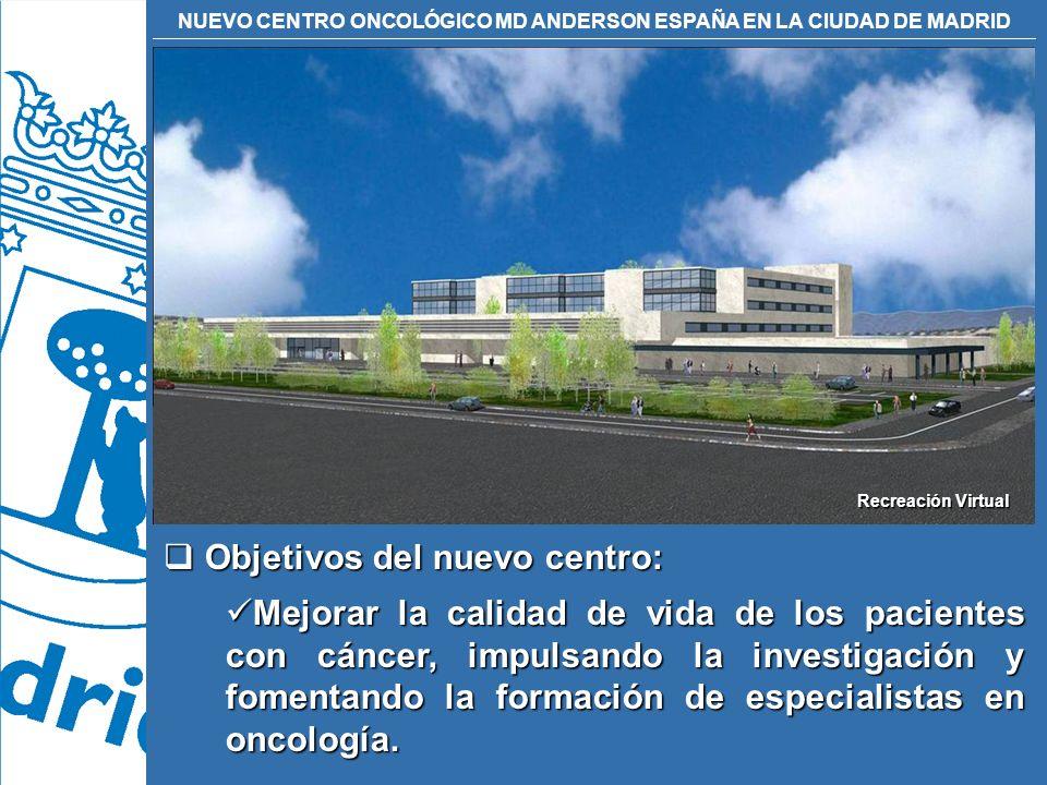 Objetivos del nuevo centro: