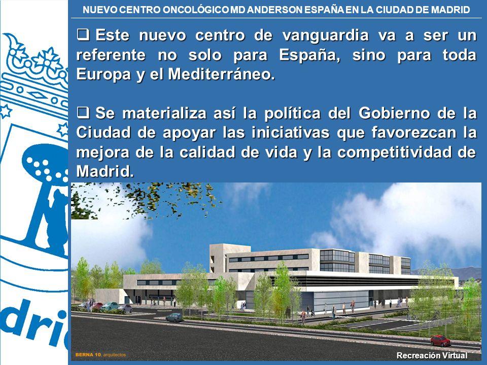Este nuevo centro de vanguardia va a ser un referente no solo para España, sino para toda Europa y el Mediterráneo.