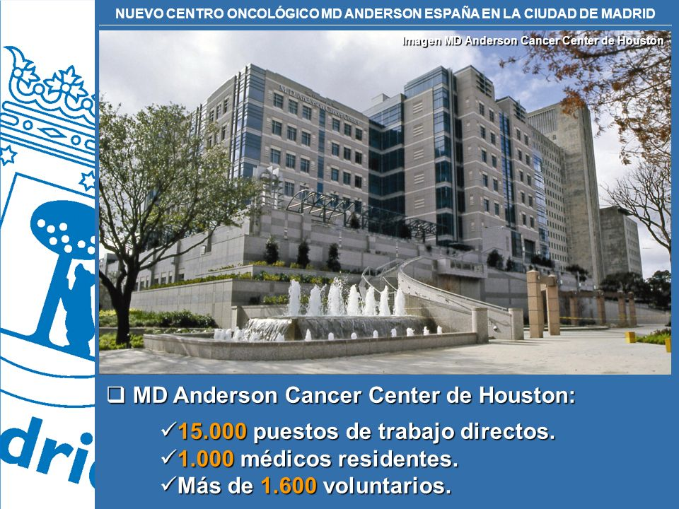 Imagen MD Anderson Cancer Center de Houston