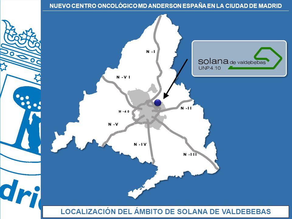 LOCALIZACIÓN DEL ÁMBITO DE SOLANA DE VALDEBEBAS