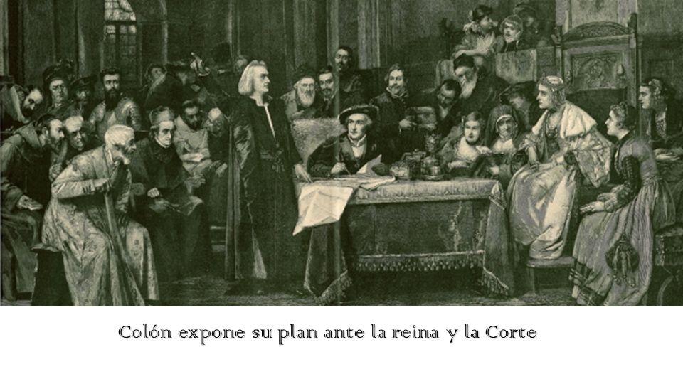 Colón expone su plan ante la reina y la Corte