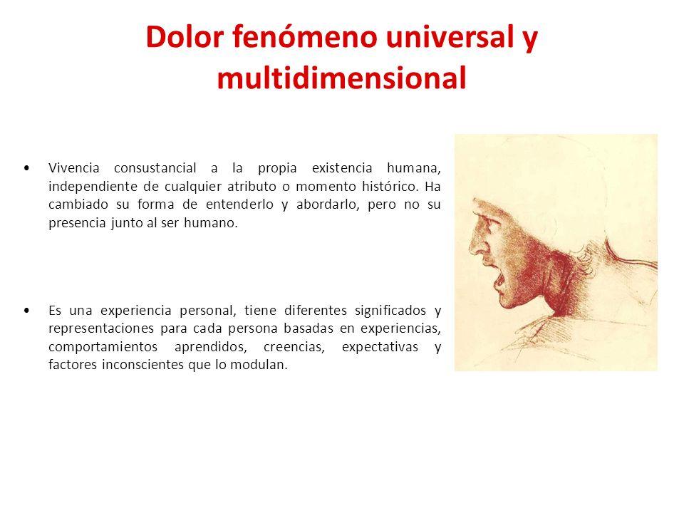 Dolor fenómeno universal y multidimensional