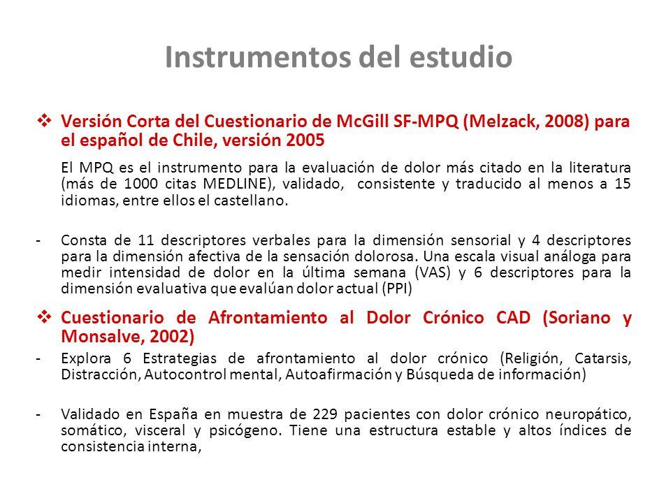 Instrumentos del estudio
