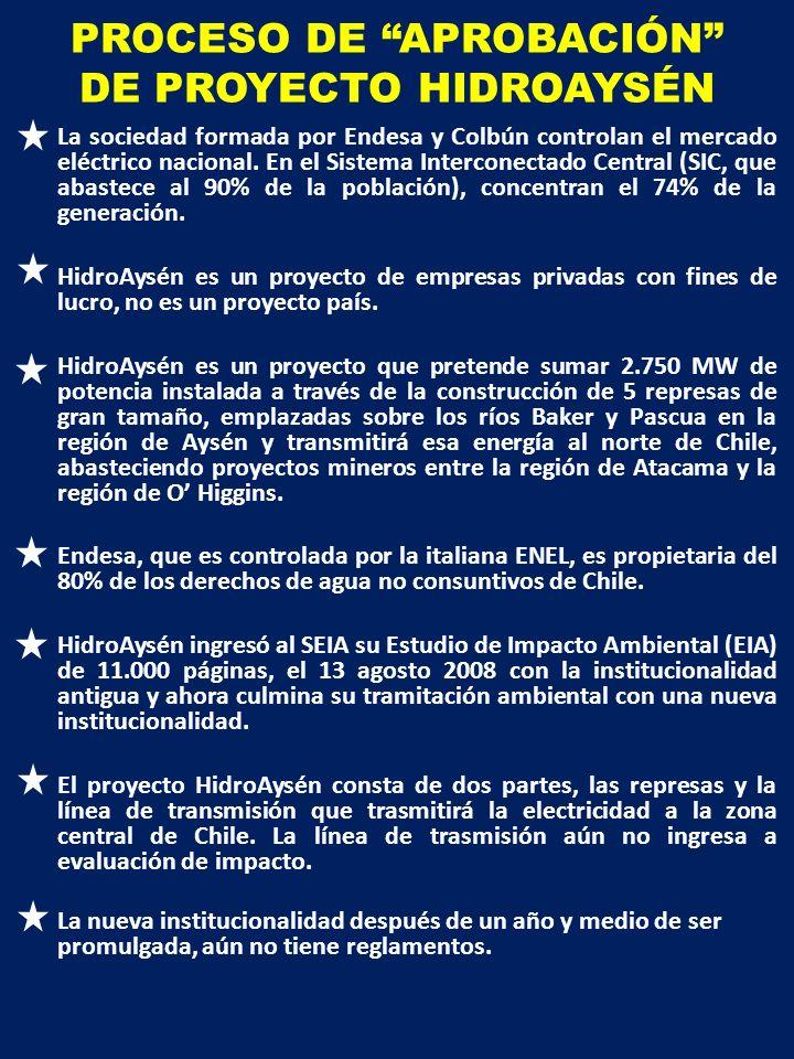 PROCESO DE APROBACIÓN DE PROYECTO HIDROAYSÉN