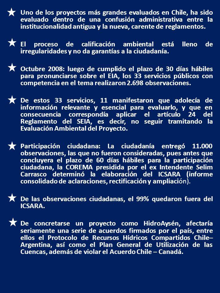 Uno de los proyectos más grandes evaluados en Chile, ha sido evaluado dentro de una confusión administrativa entre la institucionalidad antigua y la nueva, carente de reglamentos.