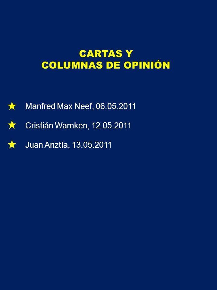 CARTAS Y COLUMNAS DE OPINIÓN