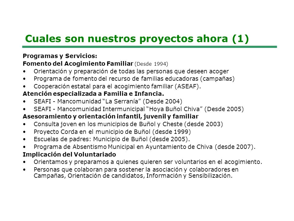 Cuales son nuestros proyectos ahora (1)