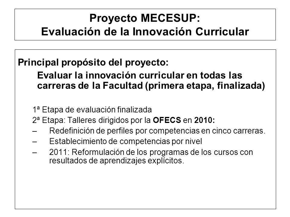 Proyecto MECESUP: Evaluación de la Innovación Curricular