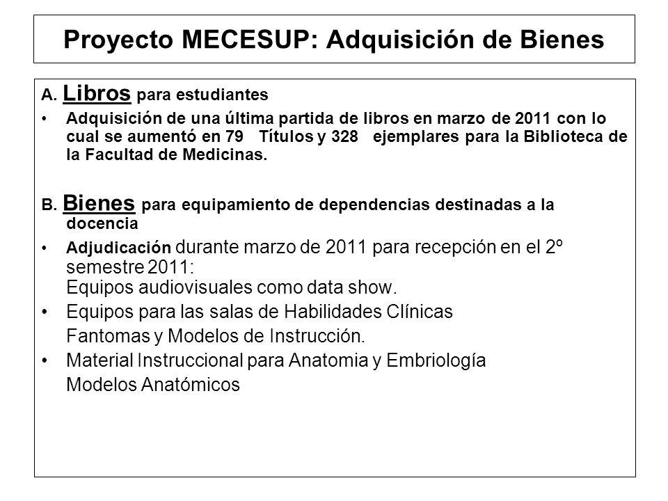 Proyecto MECESUP: Adquisición de Bienes