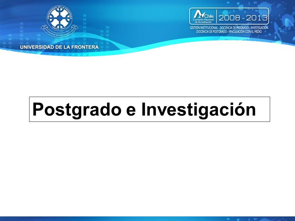 Postgrado e Investigación