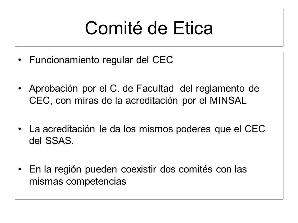 Comité de Etica Funcionamiento regular del CEC