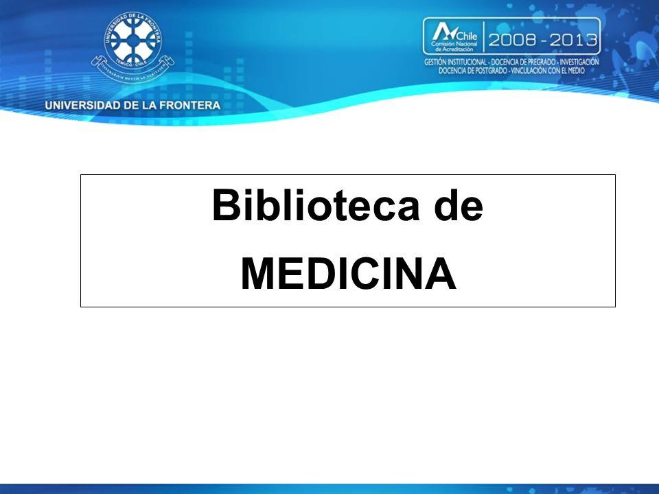 Biblioteca de MEDICINA