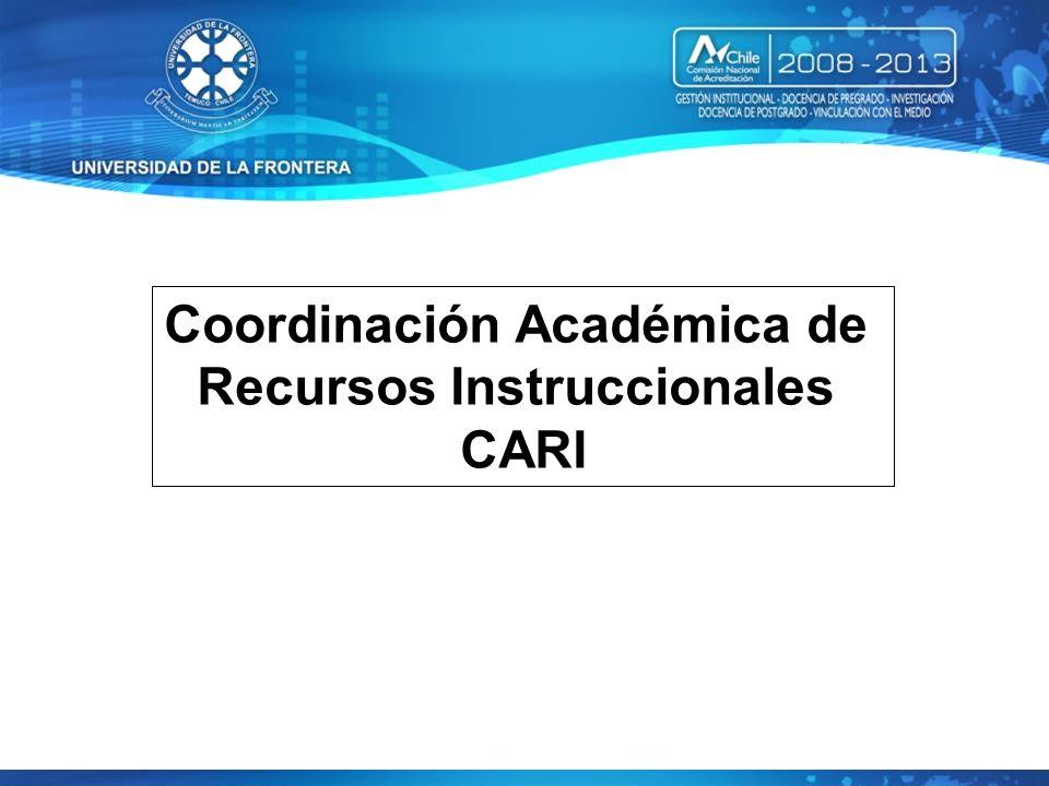 Coordinación Académica de Recursos Instruccionales