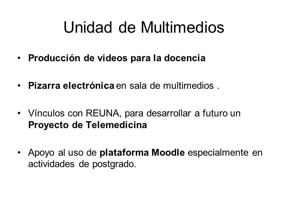 Unidad de Multimedios Producción de videos para la docencia