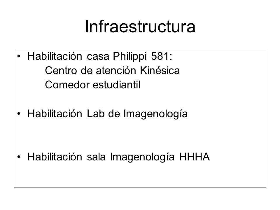 Infraestructura Habilitación casa Philippi 581: