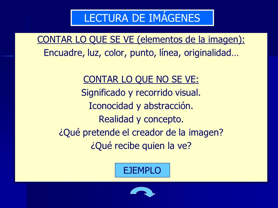 LECTURA DE IMÁGENES CONTAR LO QUE SE VE (elementos de la imagen):