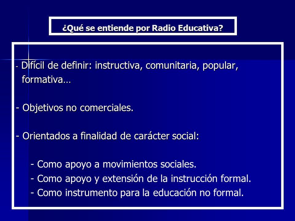 ¿Qué se entiende por Radio Educativa