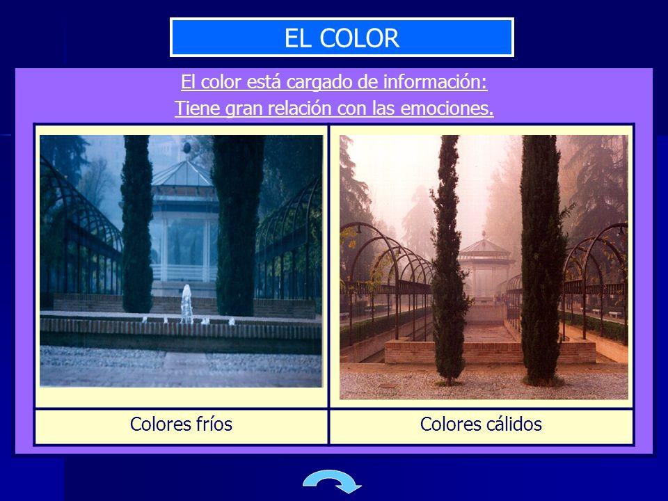 EL COLOR El color está cargado de información: