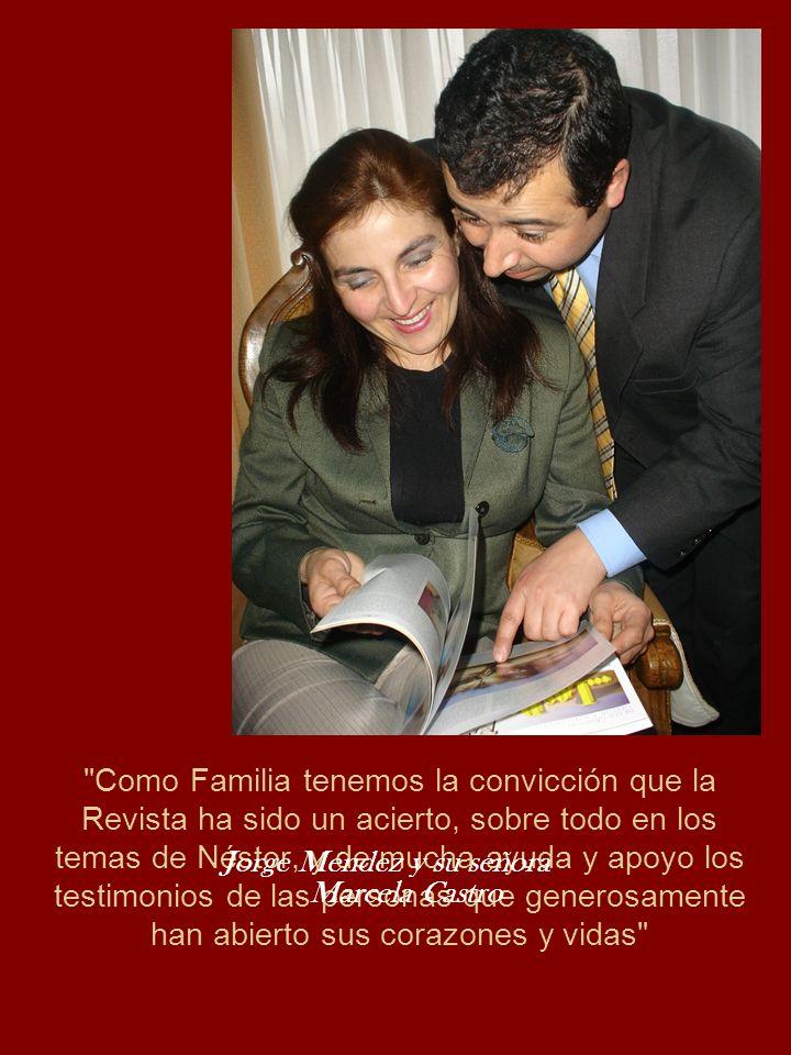 Jorge Méndez y su señora Marcela Castro