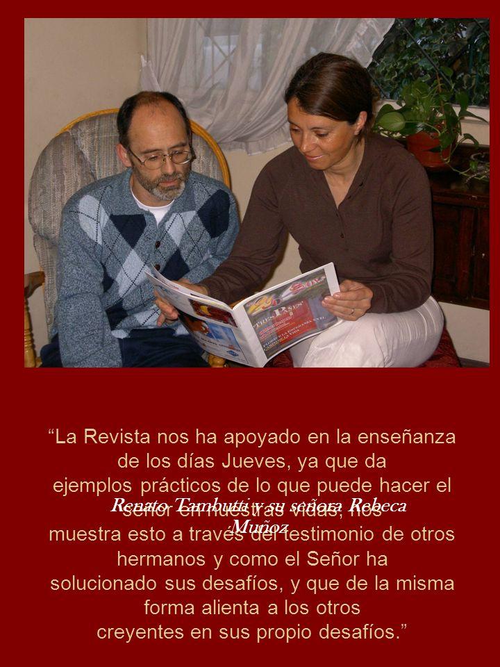 Renato Tambutti y su señora Rebeca Muñoz