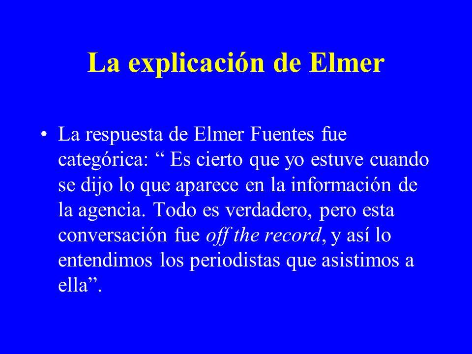 La explicación de Elmer