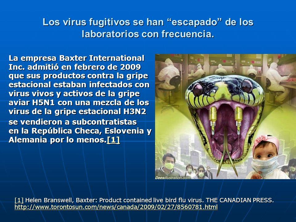 Los virus fugitivos se han escapado de los laboratorios con frecuencia.