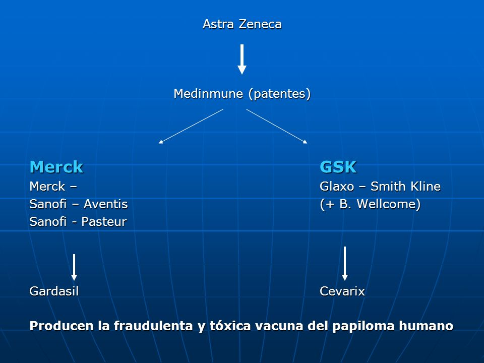 Merck GSK Astra Zeneca Medinmune (patentes)