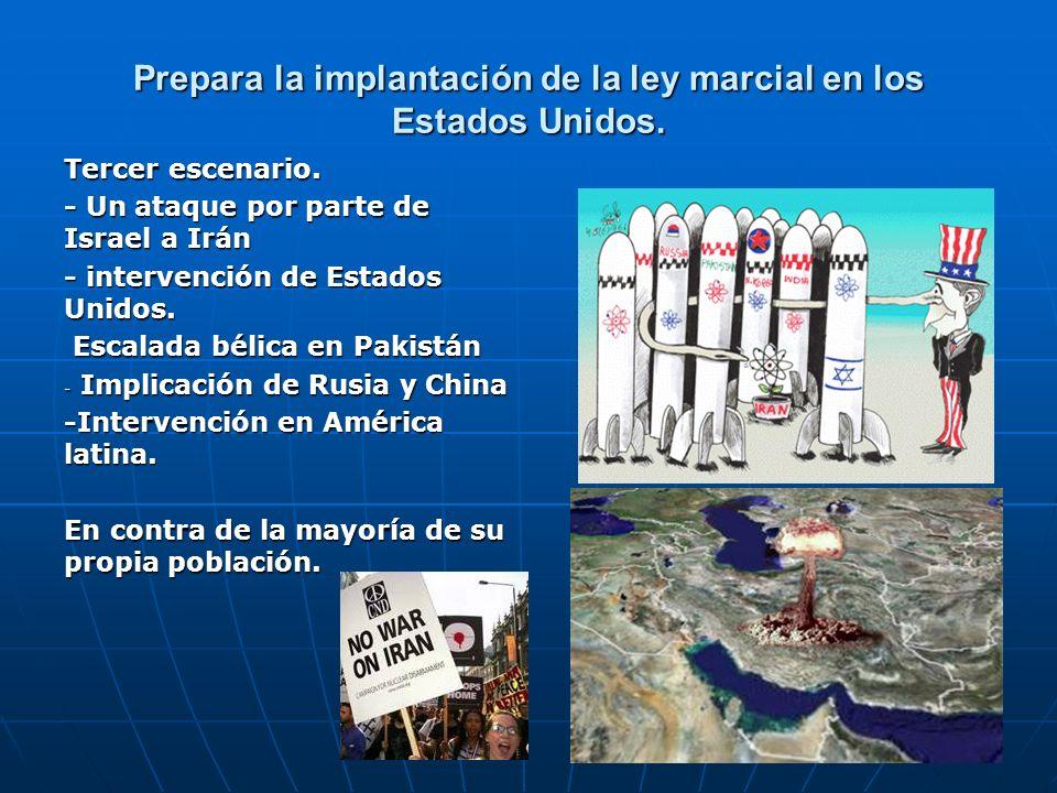 Prepara la implantación de la ley marcial en los Estados Unidos.