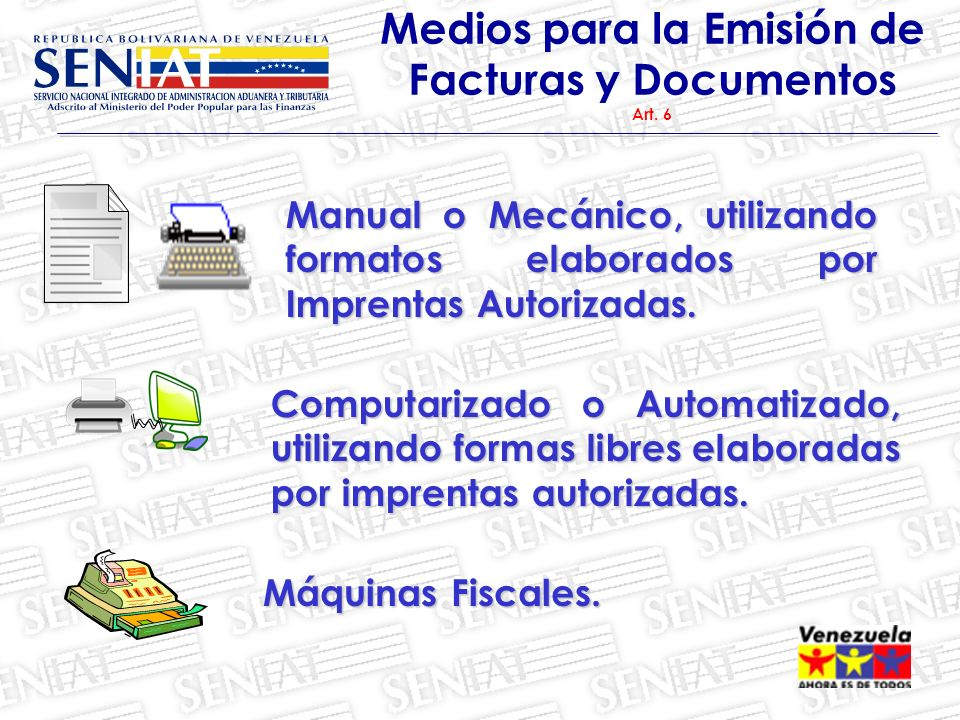 Medios para la Emisión de Facturas y Documentos