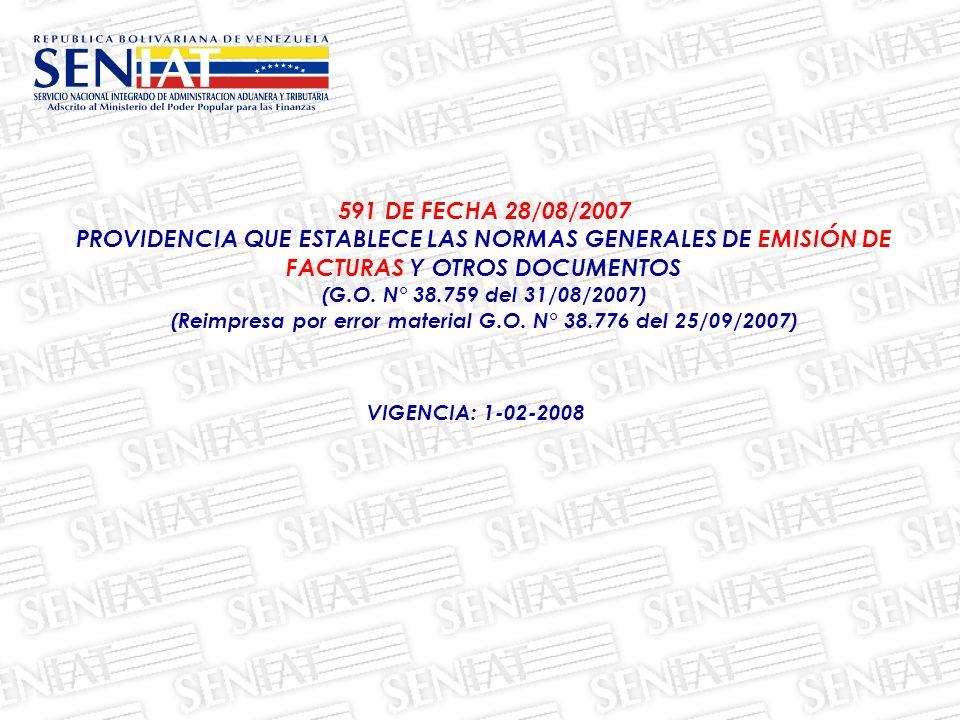 (Reimpresa por error material G.O. N° 38.776 del 25/09/2007)