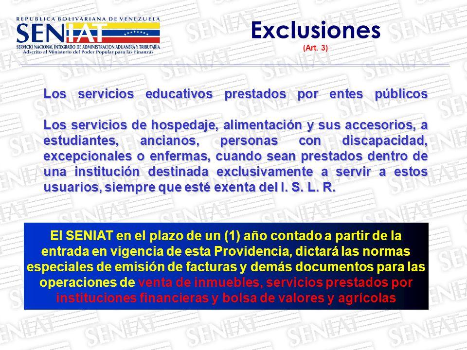 Exclusiones (Art. 3)