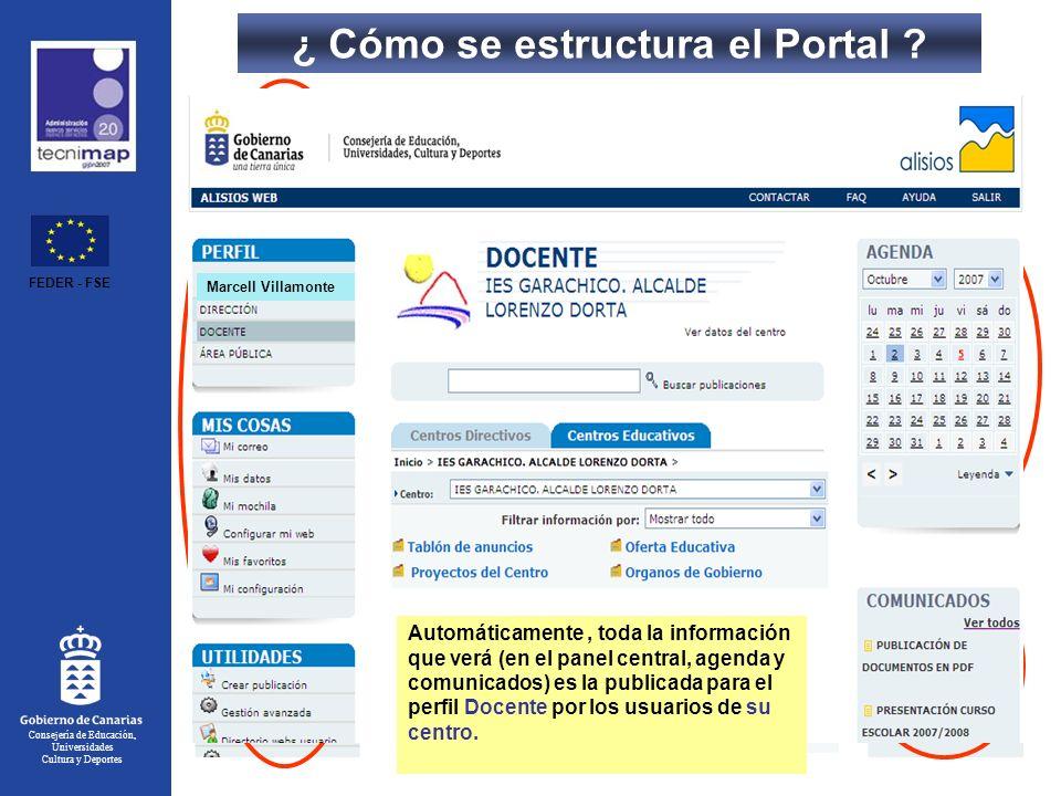 ¿ Cómo se estructura el Portal