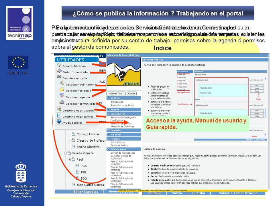 ¿Cómo se publica la información Trabajando en el portal