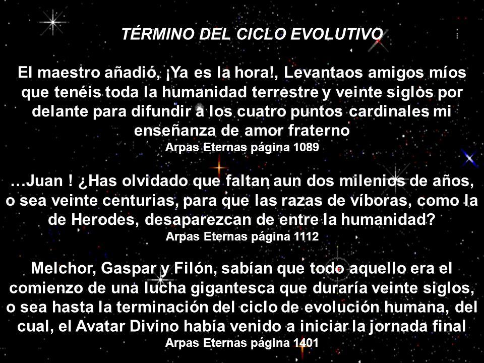 TÉRMINO DEL CICLO EVOLUTIVO