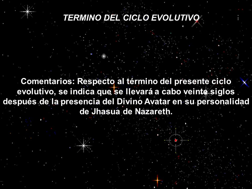 TERMINO DEL CICLO EVOLUTIVO
