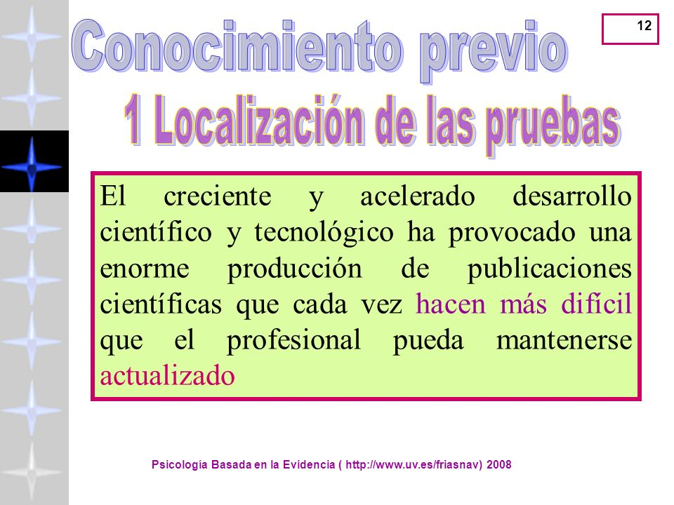 Conocimiento previo 1 Localización de las pruebas