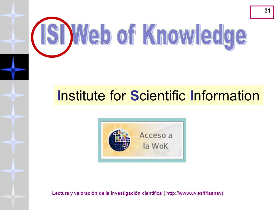 Institute for Scientific Information