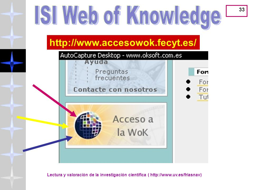 ISI Web of Knowledge http://www.accesowok.fecyt.es/