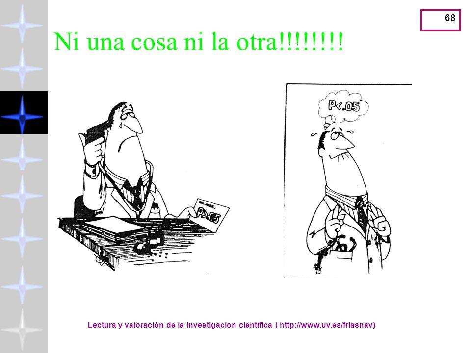 Ni una cosa ni la otra!!!!!!!!Lectura y valoración de la investigación científica ( http://www.uv.es/friasnav)