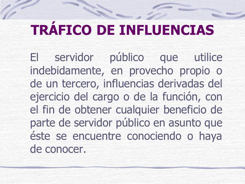 TRÁFICO DE INFLUENCIAS