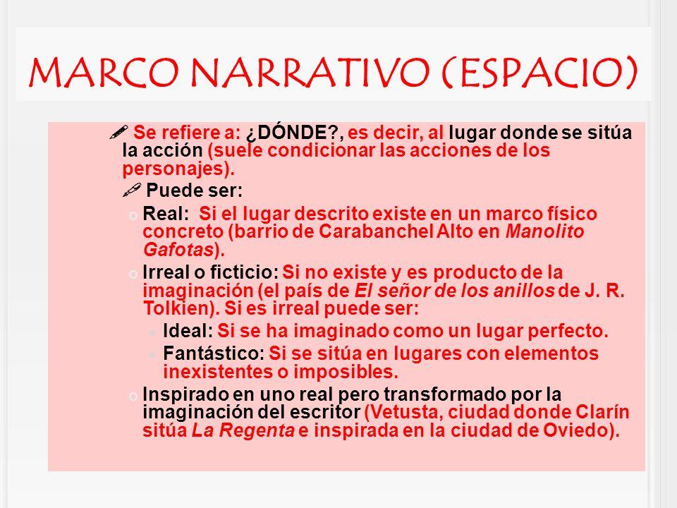 marco narrativo (ESPACIO)