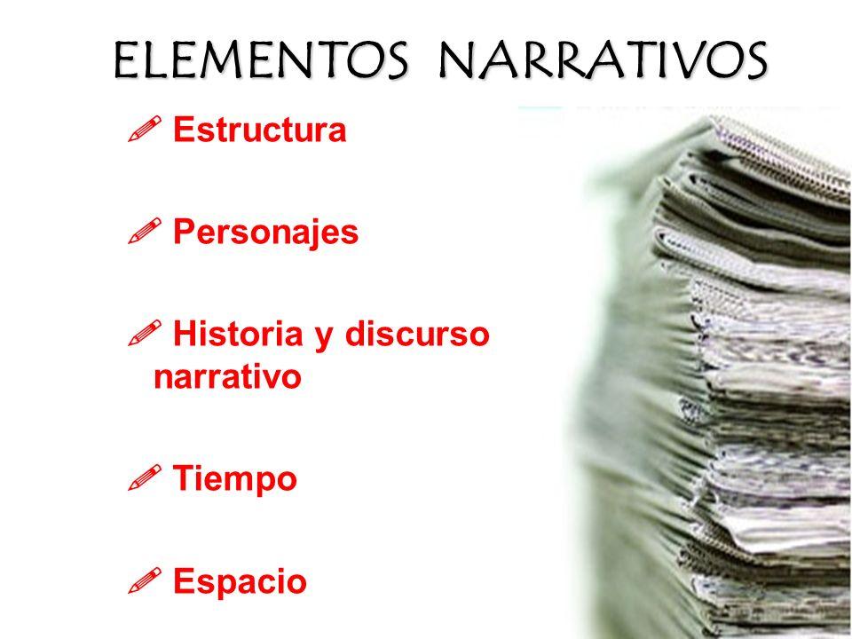 Elementos NARRATIVOs  Estructura  Personajes