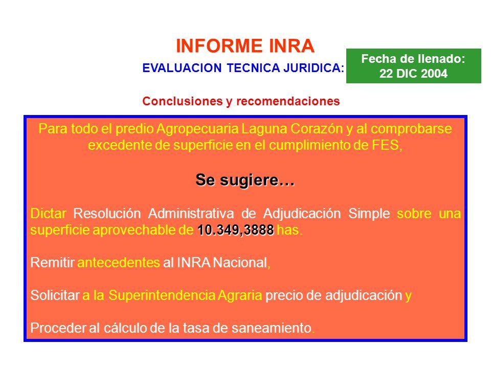 EVALUACION TECNICA JURIDICA: