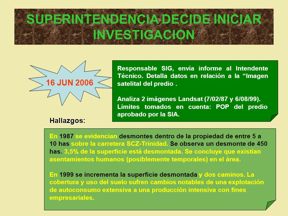 SUPERINTENDENCIA DECIDE INICIAR INVESTIGACION