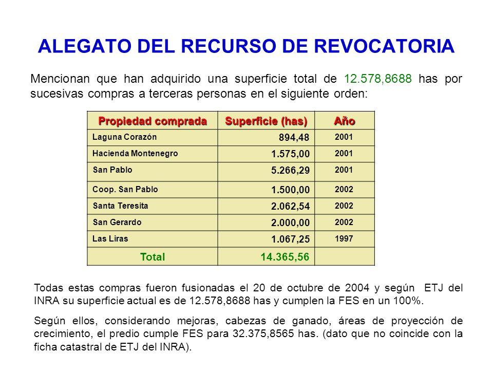 ALEGATO DEL RECURSO DE REVOCATORIA